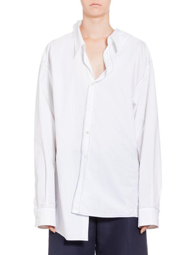 Marni Cotton shirt with white asymmetric collar Woman - 1