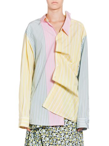 Marni Cotton shirt with yellow asymmetric collar Woman