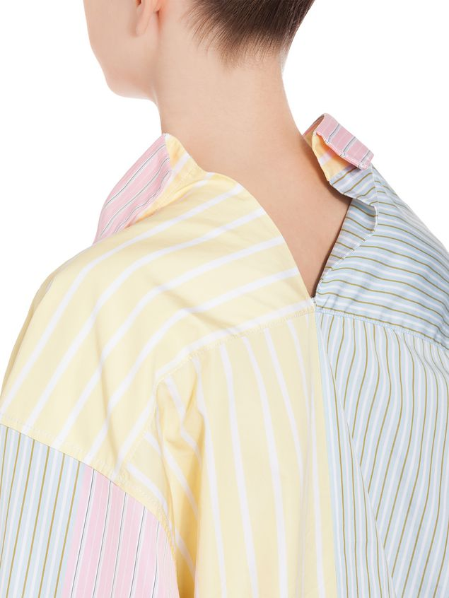 Marni Cotton shirt with yellow asymmetric collar Woman - 4