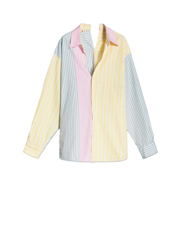 Marni Cotton shirt with yellow asymmetric collar Woman - 2