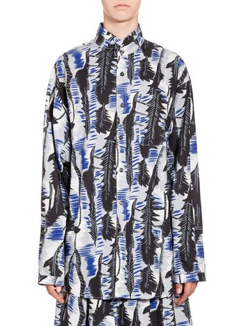 Marni Blouse in cotton River print with Nehru neck Woman