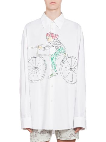 Marni Camicia in cotone stampa Bicycle Donna
