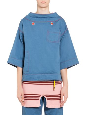 Marni Blouse in cotton with front pocket Woman
