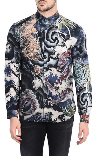 JUST CAVALLI Short sleeve shirt Man Short-sleeved Botanica shirt f