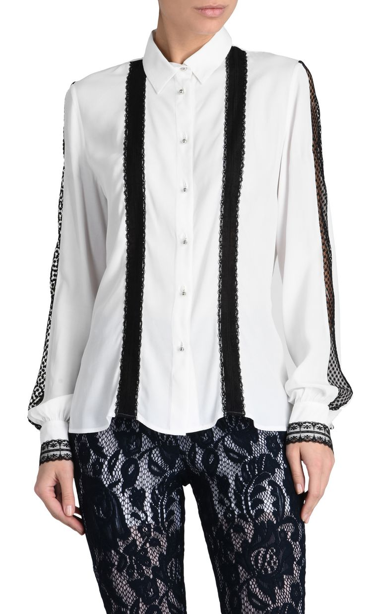 JUST CAVALLI Long-sleeved blouse with stripes Long sleeve shirt D f