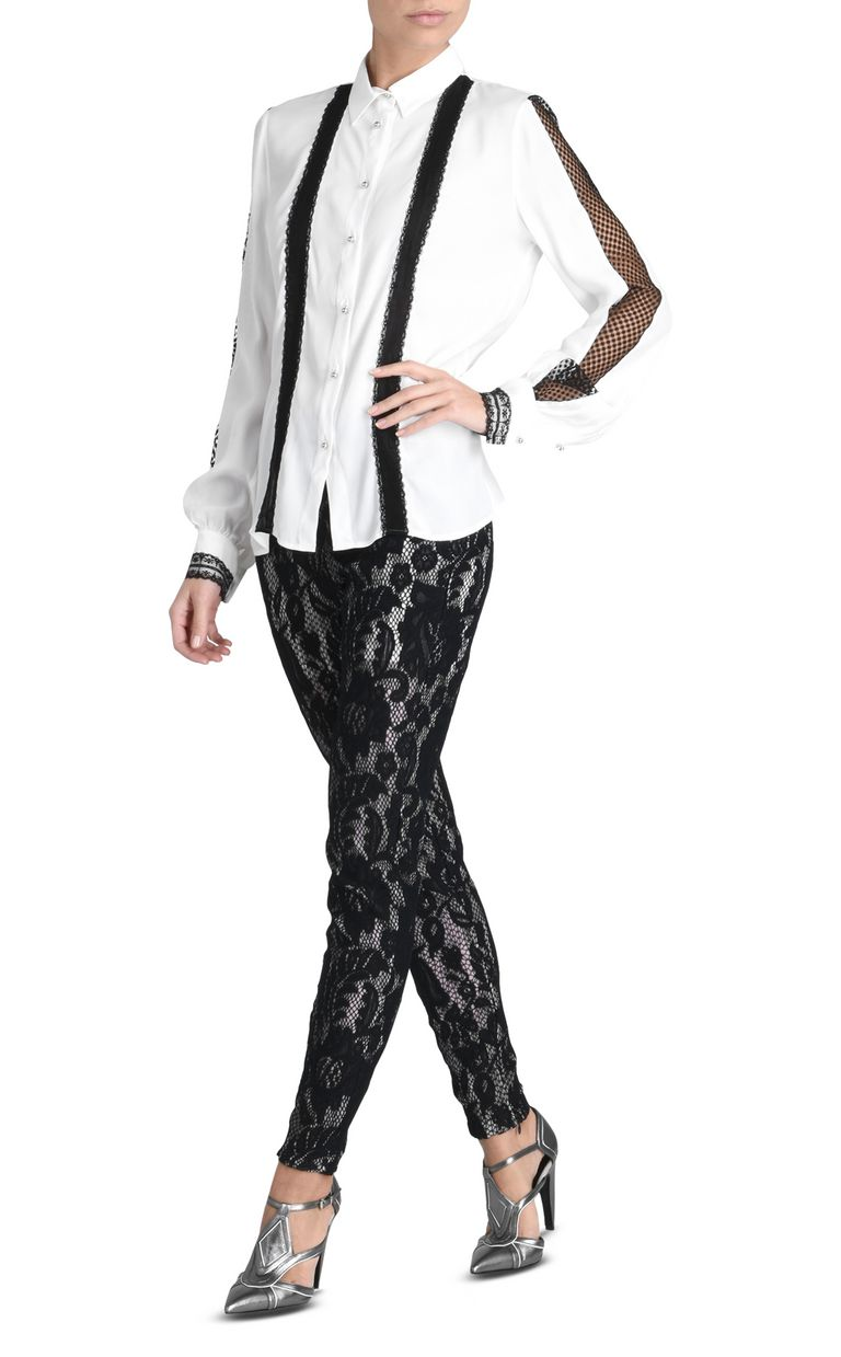 JUST CAVALLI Long-sleeved blouse with stripes Long sleeve shirt D r