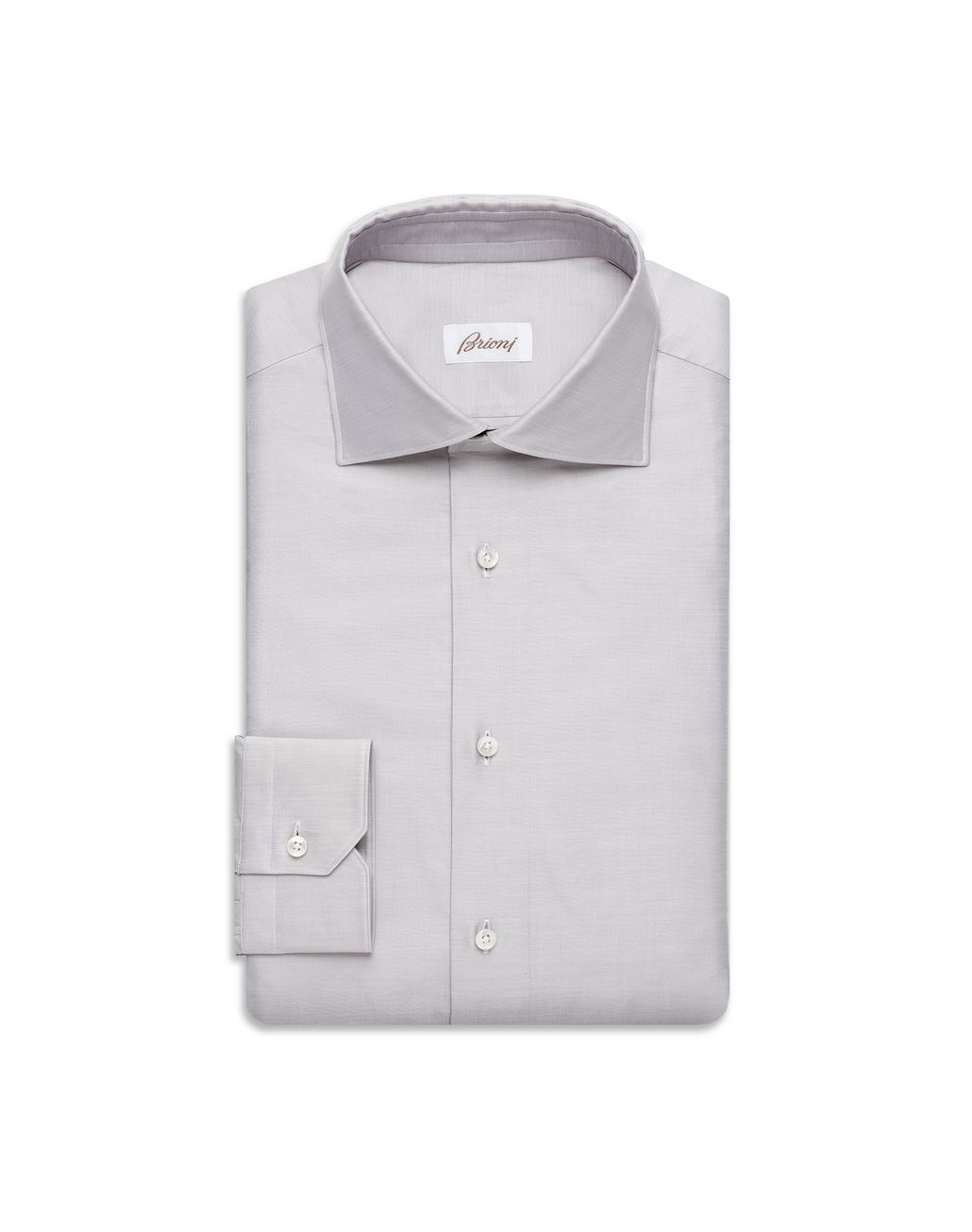 BRIONI Light Gray Grisaille-Effect Formal Shirt  Formal shirt U f