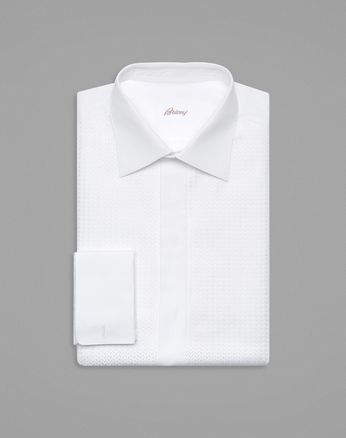 White Plastron Evening Shirt