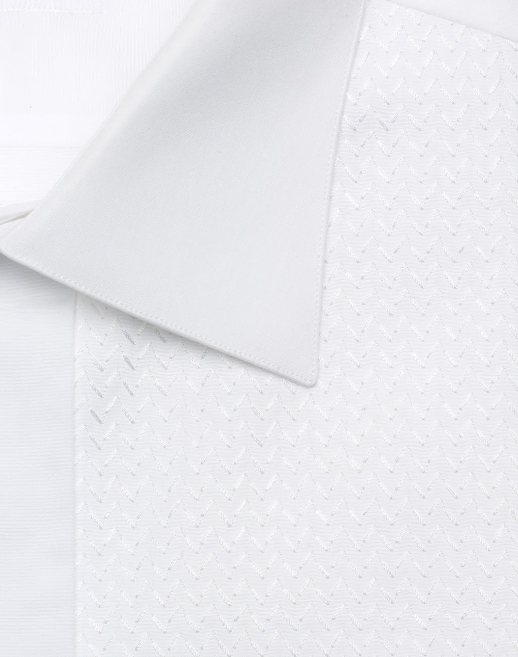 BRIONI White Plastron Evening Shirt Formal shirt Man e
