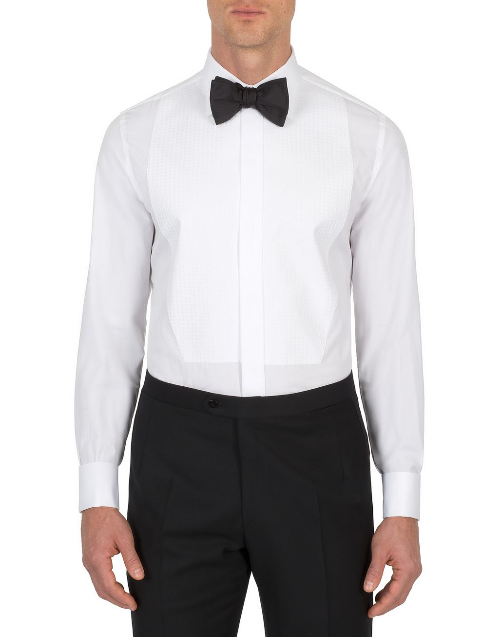BRIONI Evening White Plastron Shirt Formal shirt Man r