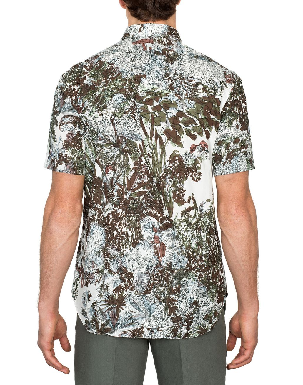 BRIONI Short Sleeves Printed Shirt Leisure shirt Man d