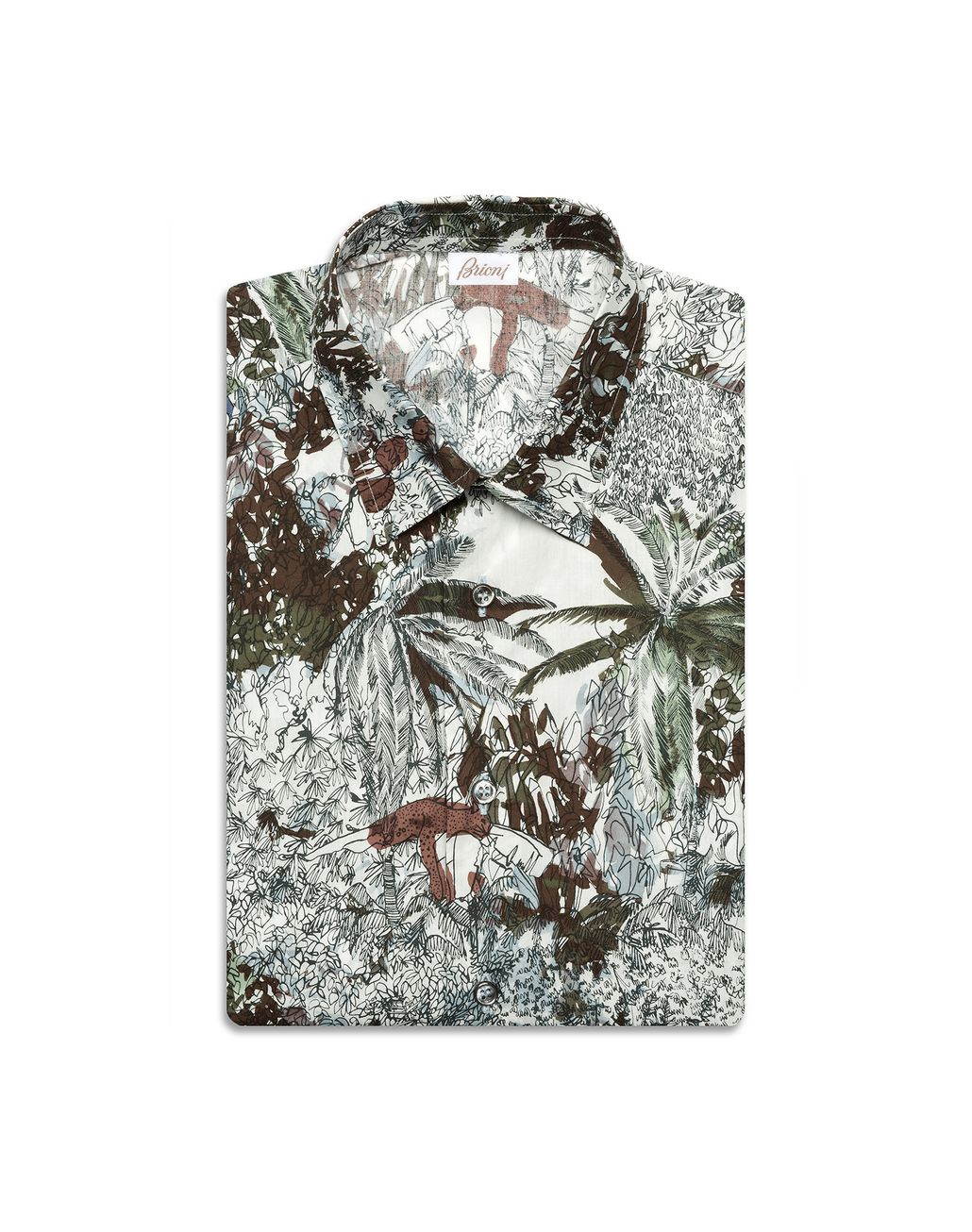 BRIONI Short Sleeves Printed Shirt Leisure shirt [*** pickupInStoreShippingNotGuaranteed_info ***] f