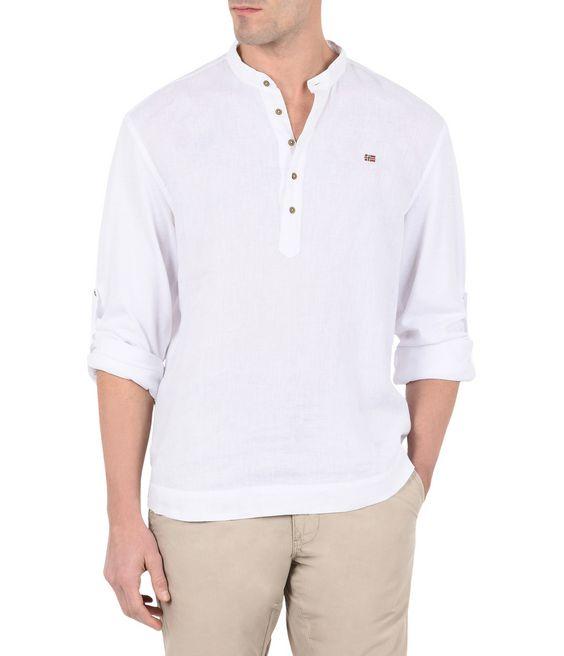 NAPAPIJRI GRISE Long sleeve shirt Man f