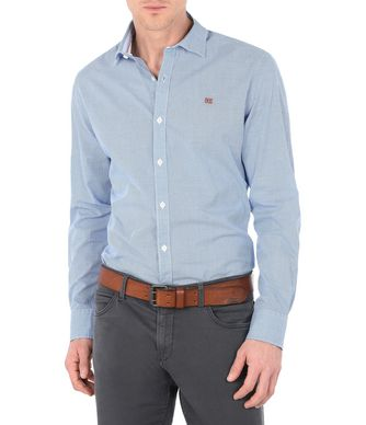 NAPAPIJRI GAROH MAN LONG SLEEVE SHIRT,BLUE
