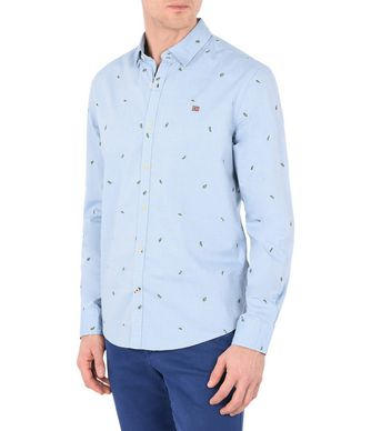 NAPAPIJRI GILIAM MAN LONG SLEEVE SHIRT,SKY BLUE