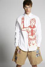 DSQUARED2 Light Chambray Bad Scout Relax Dan Shirt Long sleeve shirt Man