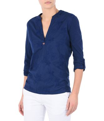 NAPAPIJRI GIANT WOMAN LONG SLEEVE SHIRT,DARK BLUE