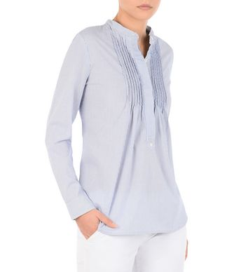 NAPAPIJRI GEGI STRIPE WOMAN LONG SLEEVE SHIRT,DARK BLUE