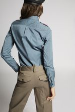 DSQUARED2 Cotton Twill Scout Patch Shirt Long sleeve shirt Woman