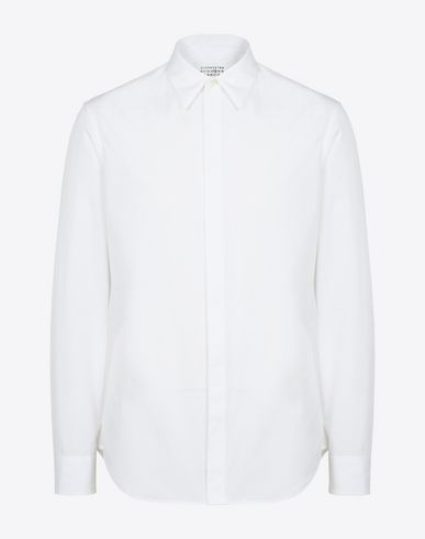 MAISON MARGIELA Long sleeve shirt Man Cotton poplin shirt f