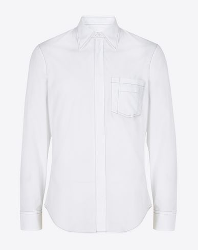 MAISON MARGIELA Long sleeve shirt U Cotton shirt with contrast stitching f