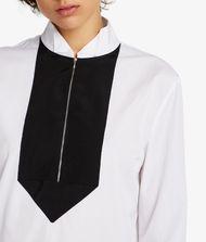 KARL LAGERFELD Tunic Shirt W/ Grosgrain Bib 9_f