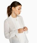 Silk Bow Blouse W/ Bib