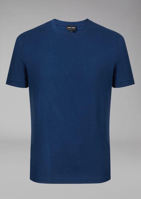 Stretch Jersey Crew Neck T-Shirt