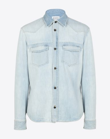 MAISON MARGIELA Denim shirt U Slim fit bleached denim shirt f