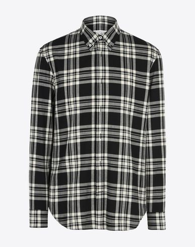 MAISON MARGIELA Long sleeve shirt U Check cotton shirt f