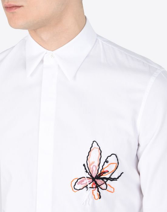 MAISON MARGIELA Cotton shirt with embroidered detail Long sleeve shirt Man a