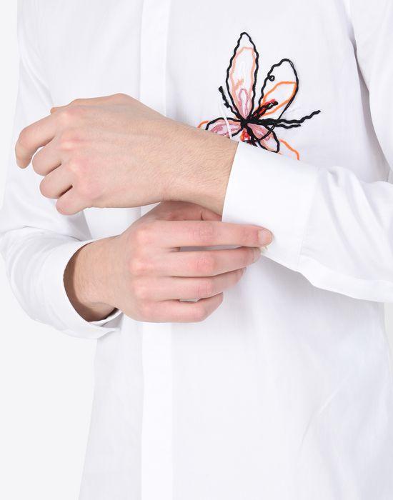 MAISON MARGIELA Cotton shirt with embroidered detail Long sleeve shirt [*** pickupInStoreShippingNotGuaranteed_info ***] b