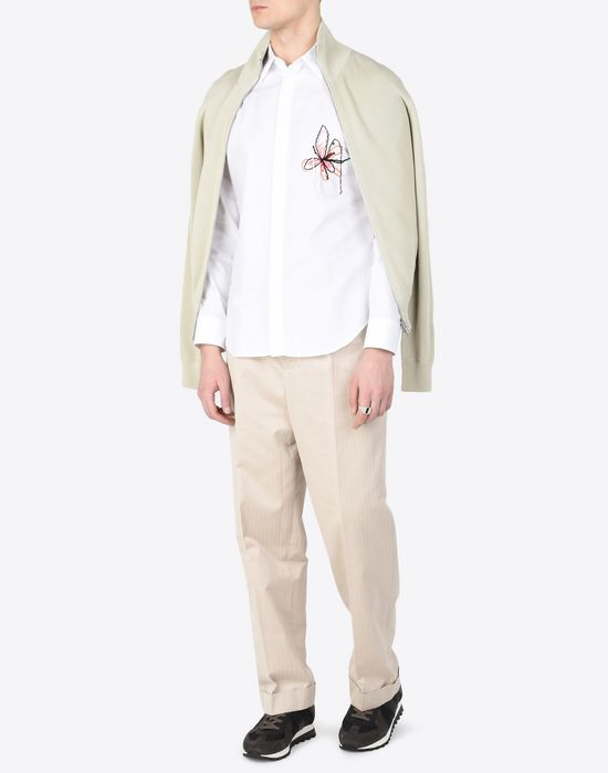 MAISON MARGIELA Cotton shirt with embroidered detail Long sleeve shirt Man d