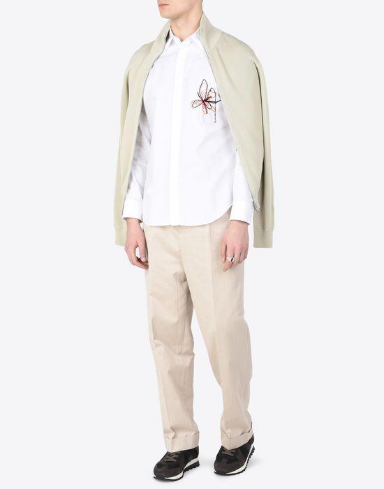 MAISON MARGIELA Cotton shirt with embroidered detail Long sleeve shirt [*** pickupInStoreShippingNotGuaranteed_info ***] d