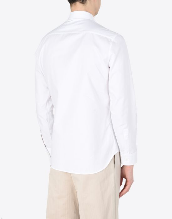 MAISON MARGIELA Cotton shirt with embroidered detail Long sleeve shirt Man e