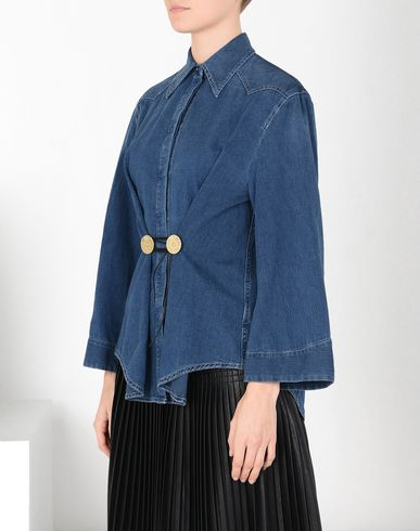 MM6 MAISON MARGIELA Denim shirt Woman Twist tie denim shirt f