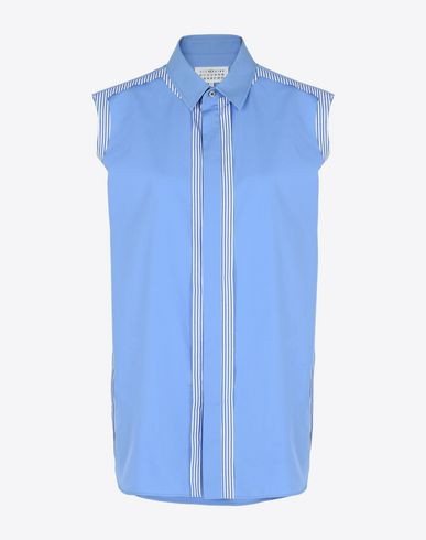 MAISON MARGIELA Sleeveless shirt D Sleeveless cotton shirt with cut-out detail f