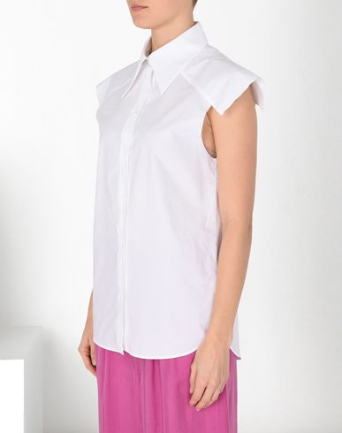 MM6 MAISON MARGIELA Short sleeve shirt Woman Cotton shirt with oversized shoulders f
