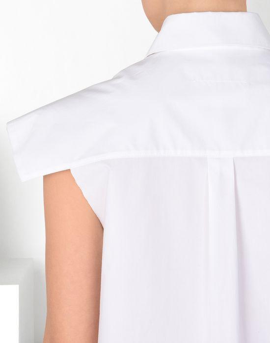 MM6 MAISON MARGIELA Chemise en coton avec épaules extra-larges Chemise manches courtes [*** pickupInStoreShipping_info ***] a