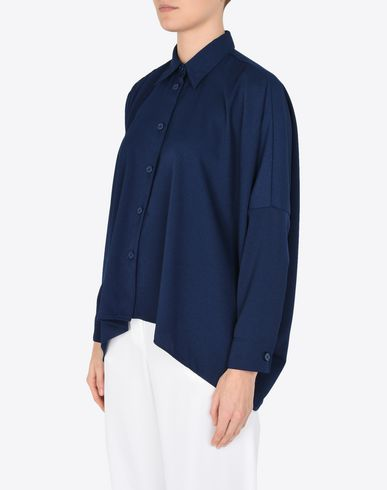 MM6 MAISON MARGIELA Long sleeve shirt Woman Oversized denim shirt f