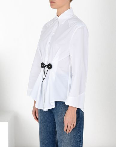 MM6 MAISON MARGIELA Long sleeve shirt Woman Twist tie poplin shirt f