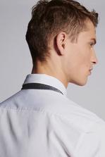 DSQUARED2 Chic Stretch Poplin Slim Shirt Long sleeve shirt Man