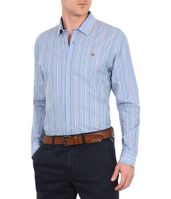 NAPAPIJRI GARDEZ MAN LONG SLEEVE SHIRT,SKY BLUE