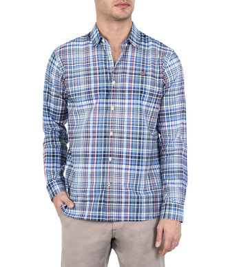 NAPAPIJRI GARDEZ MAN LONG SLEEVE SHIRT,BLUE
