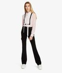 KARL LAGERFELD Silk Colorblock Bow Blouse 8_e