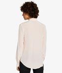 KARL LAGERFELD Silk Raw Edge Plastron Shirt 8_d