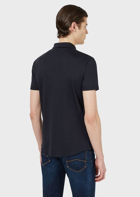 SHORT-SLEEVED SHIRT IN COTTON JERSEY