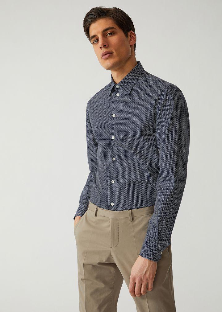01e15af1c4 Shirt in printed cotton | Man | Emporio Armani