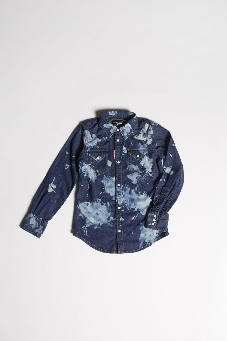 7114d0c7be Dsquared2 Denim Shirt - Camisas Vaqueras Hombre