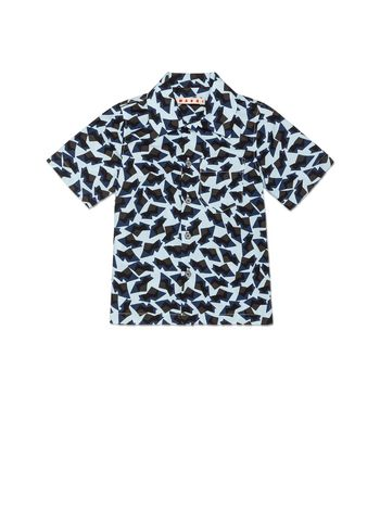 Marni SHIRT IN POPELINE WITH MENPHIS ALLOVER PRINT Man
